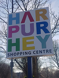 Harpurhey Shopping centre sign