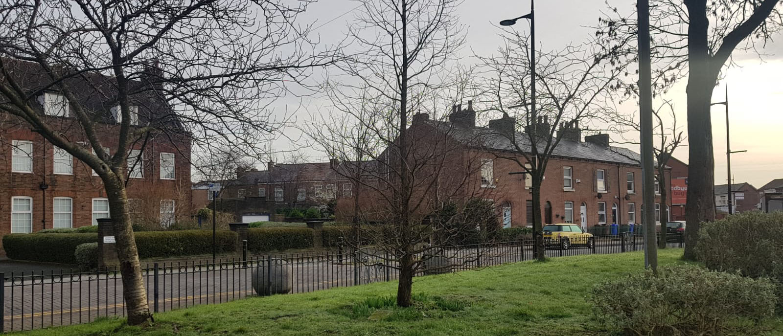 Moston Lane gree at the top of Moston Lane, Manchester